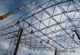 Grade pré-fabricada elegante da construção de aço para o parque de estacionamento