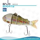 Señuelo realista articulado multi de la pesca de los trastos de pesca del salto profundo del cebo de pesca del gran juego de las artes de pesca
