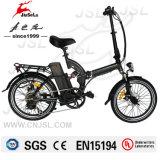 Bicicleta elétrica dobrável preta de 250W com bateria de lítio 36V (JSL039D)