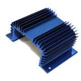 精密CNCの機械化を用いる青および赤いカラー陽極酸化カバー