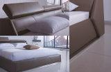 Neuer eleganter Entwurfs-modernes echtes Leder-Bett (HC297) für Schlafzimmer