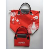 Förderndes Segeltuch-Jutefaser-Polyester-faltbare Einkaufstasche-Handtasche