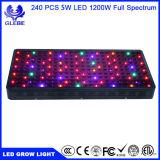 En todo el espectro de 1200W crecer Double-Chips LED luces LED 10W de la luz de la planta de efecto invernadero para el crecimiento de las verduras de Hydroponic