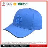 Gorra de béisbol azul del algodón con el bordado 3D