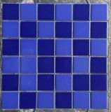 Azulejo de mosaico de cerámica de la piscina de la grieta azul del hielo