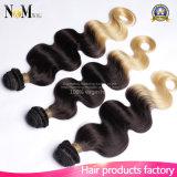 Weave barato de China do fornecedor de Guangzhou que vende em linha o cabelo colorido macio do brasileiro de Ombre