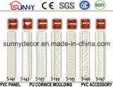 Moldeado fácil de la PU de los moldeados de la cornisa del poliuretano de la instalación/moldeados llanos