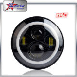 "Últimas Design 7 ""DOT Aprovado LED Lights LED Headlight Round 12V 24V High Low Beam H4 Motorcycle LED Headlight"