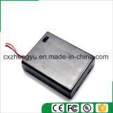 4AAA Batteriehalterung mit den roten/schwarzen Leitungen, Deckel und Schalter
