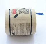 Изготовленный на заказ логос малый естественный деревянный бочонок кофейного зерна