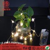 Koper van de Hoofd draad van de Veiligheid van de Macht van de batterij Lichten van het Koord van het Zilveren van de Kerstman de Decoratieve