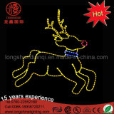 Lumière décorative de grand 2D de DEL Godlen de renne Noël jaune extérieur de motif