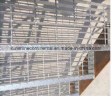 La barra d'acciaio galvanizzata tuffata calda della piattaforma del pavimento gratta la scaletta