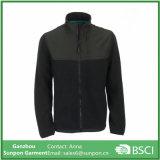 까만 색깔 남자의 스포츠 작풍 양털 재킷
