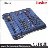 Jb-L8 de 8 canales del sistema de sonido el controlador de DJ Mezclador de audio de música