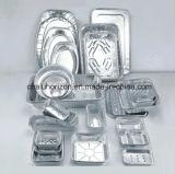 bandeja da folha de alumínio de 323*266*64mm para a classe da segurança alimentar