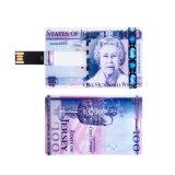 De mini Stok van de Creditcard USB van Pendrive van de Kaart van de Aandrijving van de Flits USB