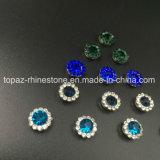 Горячий продавая Rhinestone кристалла 7mm в шить на Strass с Rhinestone установки когтя (TP-7mm полностью изумрудный круглый кристалл)