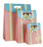 Saco de papel de venda quente do presente do Sweety com curva