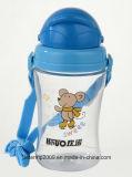 neue Wasser-Flaschen-trinkende Plastikflasche der Kind-350ml mit Stroh (hn-1201)