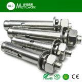 Boulon d'anchrage d'expansion de l'acier inoxydable solides solubles Ss304 Ss316