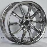 Серебр/гипер чернота/кром катят оправы колеса сплава автомобиля F101016