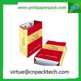 Bolso de papel modificado para requisitos particulares extravagante del vino en alta calidad con la impresión de la insignia