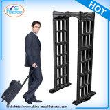 Barriere di sicurezza portatili, camminata dei metal detectori tramite il cancello