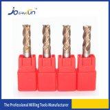 cortador de trituração liso das flautas contínuas do carboneto 4