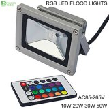 reflector de 10W AC85-265V IP65 RGB LED