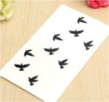 Стикеры Tattoo конструкции картины птицы водоустойчивые временно