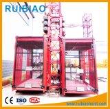 Élévateur de passager de cage de Gjj Scd200/200g de prix usine double