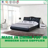 ヨーロッパ式の寝室の革二段ベッドの家具