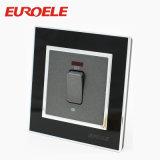 黒いカラーアクリル86*86mm電気20A水熱スイッチ