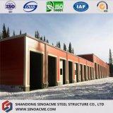 Le coût bas a vite construit l'entrepôt/atelier préfabriqués avec le panneau isolé