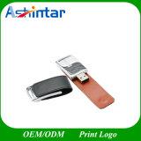 USB3.0 Impressão do logótipo do suporte da unidade Flash USB de couro