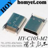 3.1 Tipo C 180 Grau através do furo de mergulho de 24 pinos do conector fêmea USB