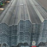 Гальванизированный сталью гофрированный тип раскрынный переводинами лист металла Decking пола