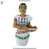 Ímã do refrigerador da geladeira da resina da menina de Lagos 2016 para a promoção (YH-FM095)