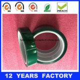緑ペットテープを型抜きする屑テープ
