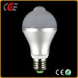 A luz do LED do sensor de infravermelhos quente Sensor PIR Lâmpada Lâmpada LED lâmpadas LED do melhor preço E27/B22 AC85V-265V iluminação LED