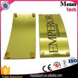 中国の工場柔らかいエナメルのロゴの金属の金カラーカスタム袋のラベル