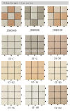 Telha de revestimento cerâmica do Decking de 30*30 DIY com base do PE
