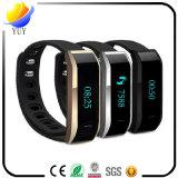 Bluetoothの無線作業のブレスレットのスマートな腕時計の歩数計