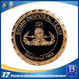 Проштемпелеванная латунью монетка сувенира с прозрачной эмалью (Ele-C210)