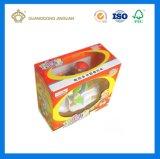 Rectángulo de empaquetado impreso modificado para requisitos particulares del juguete de cartón corrugado de papel con la ventana transparente (para el coche del juguete)