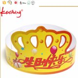 Impressão personalizada promocional personalizado Kids Crown Paper Birthday Party Hat