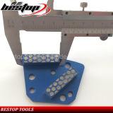 Sapata de moedura do Trapezoid 18/20# bond duro com 2 segmentos da barra