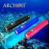 Archon V10 Mini LEIDEN Flitslicht 60 het Duiken van de Scuba-uitrusting van het Mini het Duiken van het Flitslicht Navulbare Meters Flitslicht