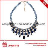 존엄 여자 파란 진주와 다이아몬드 늘어진 목걸이 도금 초크